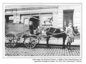 Lieferwagen Bäckerei Frentzen 1925