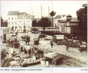 Bahnhof Rheydt Mülfort-Erzeugermarkt 1932
