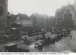 Rheydt Wochenmarkt 1901