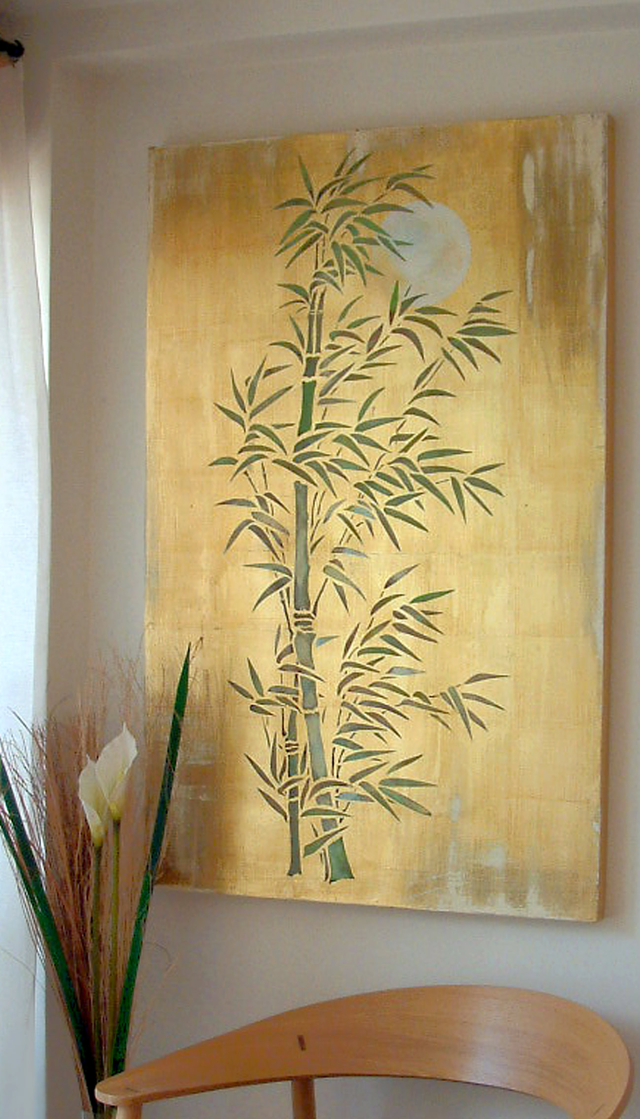 Oversize Bamboo  Moon Stencil  Henny Donovan Motif