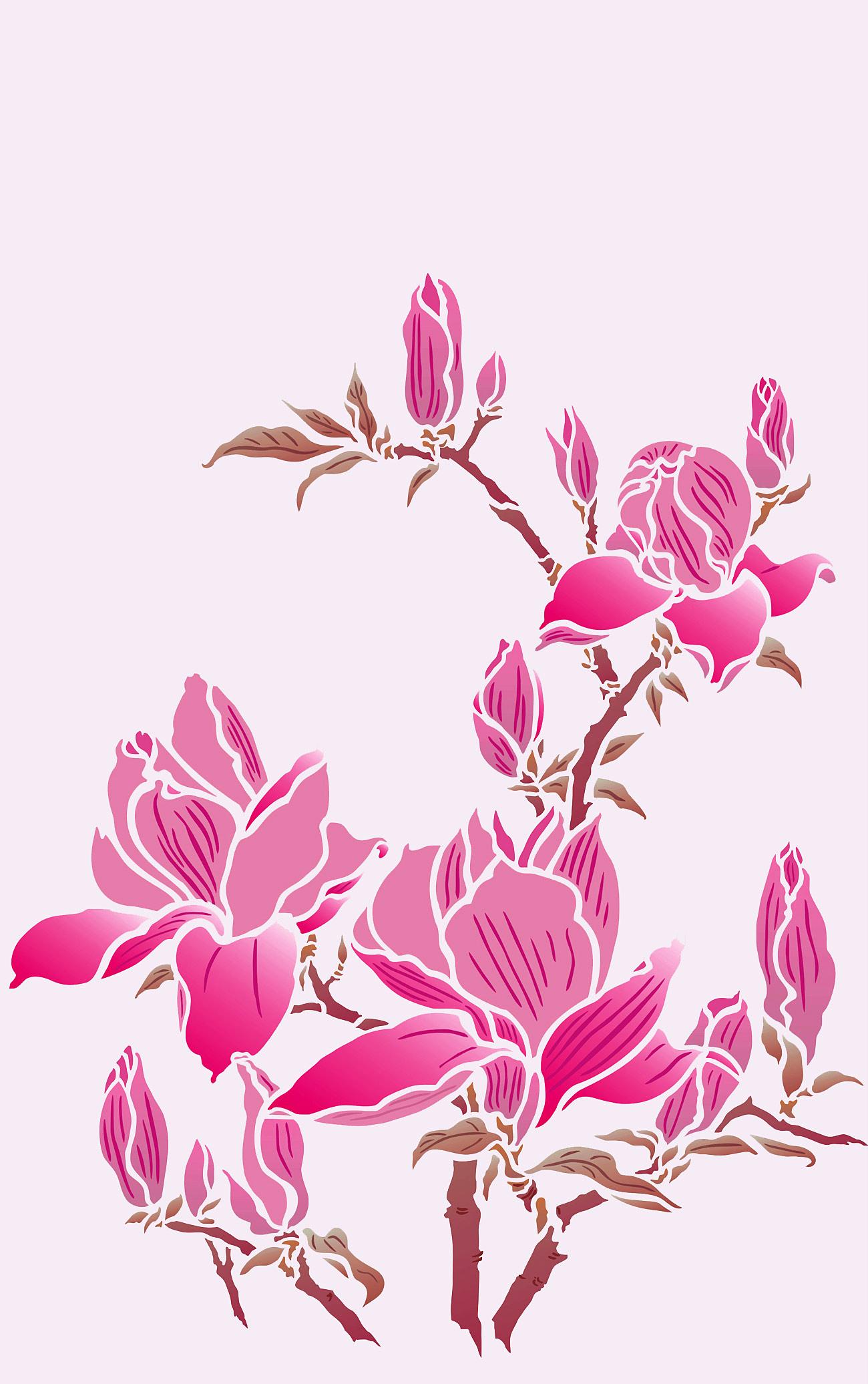 Magnolia Stencil  Henny Donovan Motif
