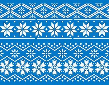 Nordic Pattern Stencil 2 Henny Donovan Motif