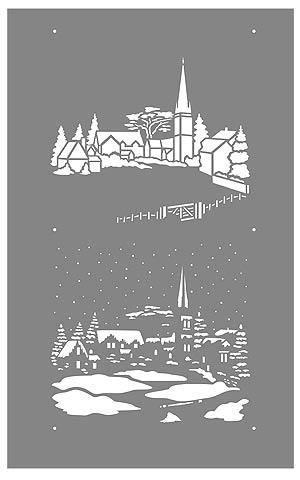 Little Snowy Scene Stencil Henny Donovan Motif