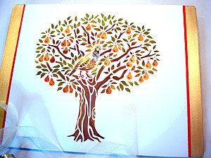 Partridge In A Pear Tree Stencil Henny Donovan Motif
