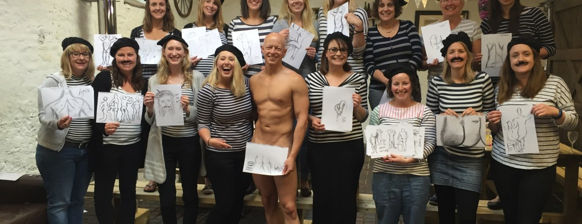 Hen Party Activities in Bristol – Life Drawing nr. Axebridge Somerset