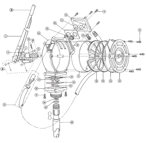 GPI HP-100-UL Dual-Flo Hand Pump (50 Gal/100 Strokes