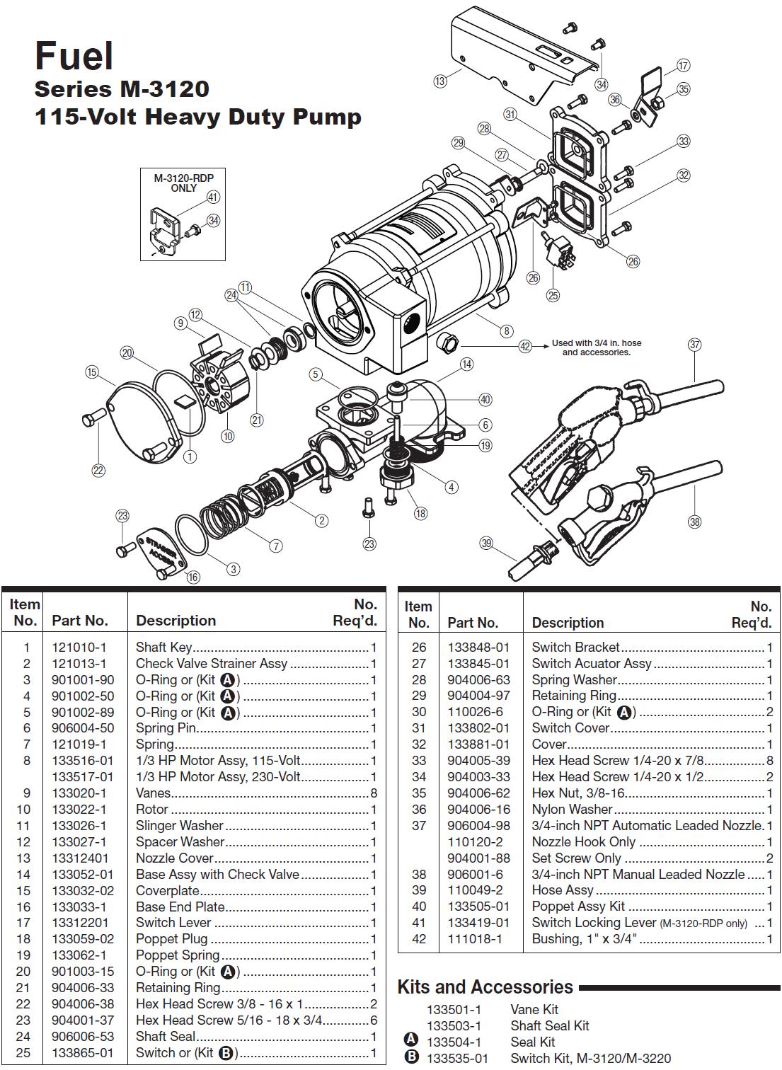 Gpi M Ad Mr 5 30 G8n 115 Volt Ac Heavy Duty Fuel