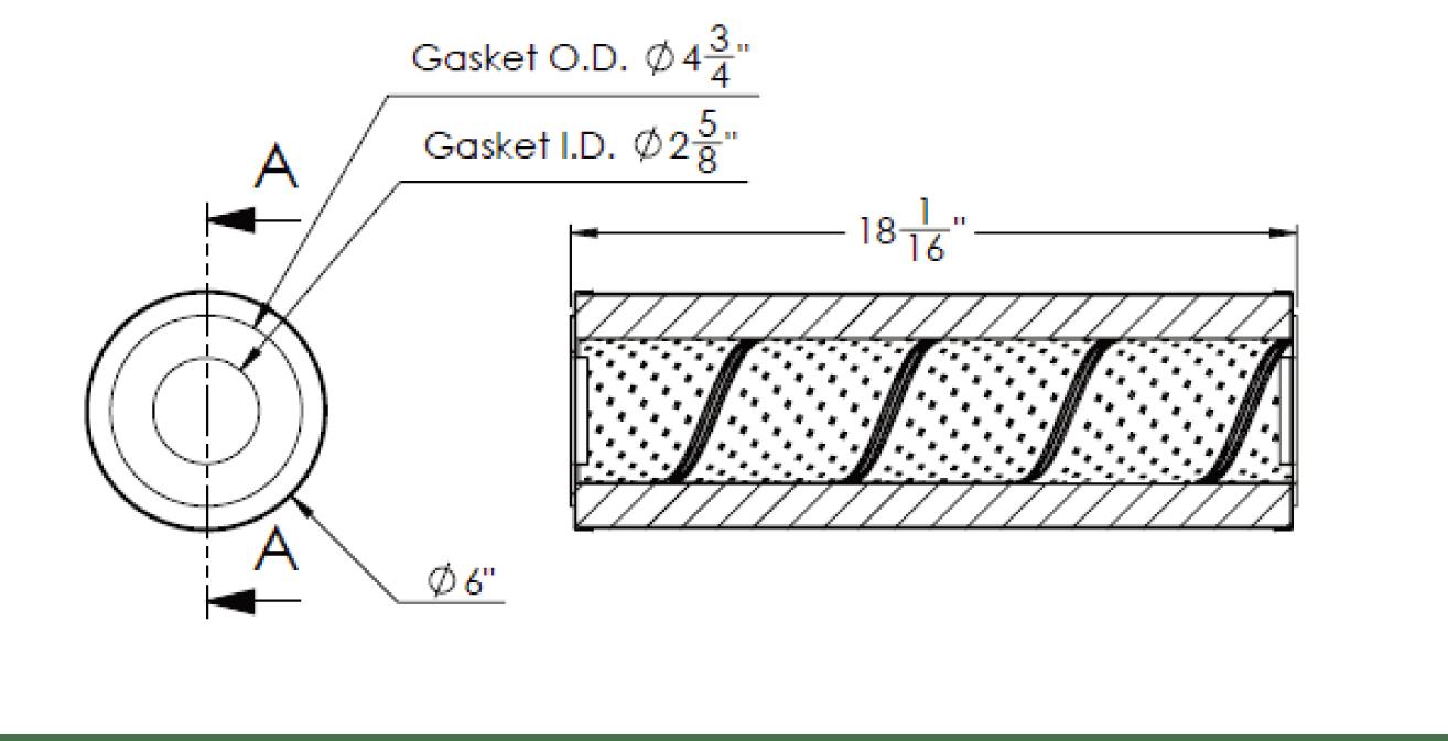 Cim-tek 30034 Viking E-1300HS-10 Hydrosorb Filter Element