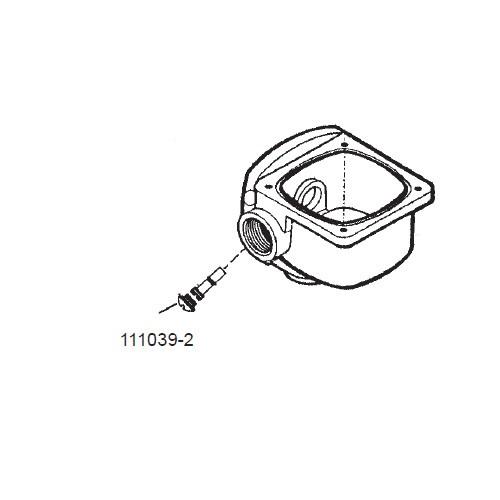GPI 111039-2 Calibration Screw External Cover for FM-100