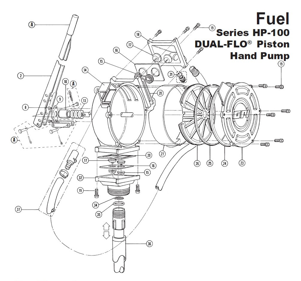 GPI 114009-1 Spring for HP-100 Dual-Flo Piston Hand Pump