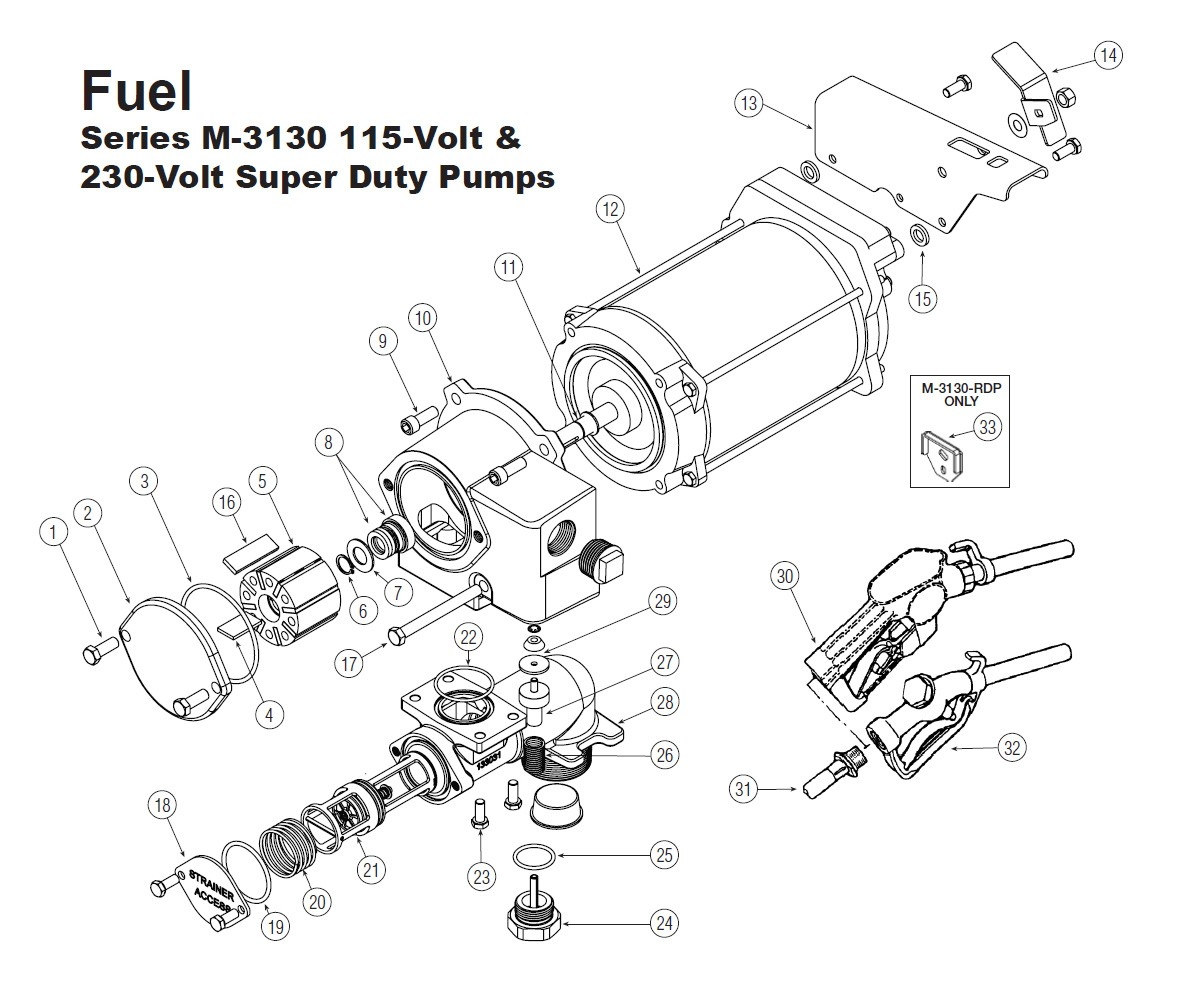 Gpi 1 Rotor For M 115v Amp 230v Super Duty Pump