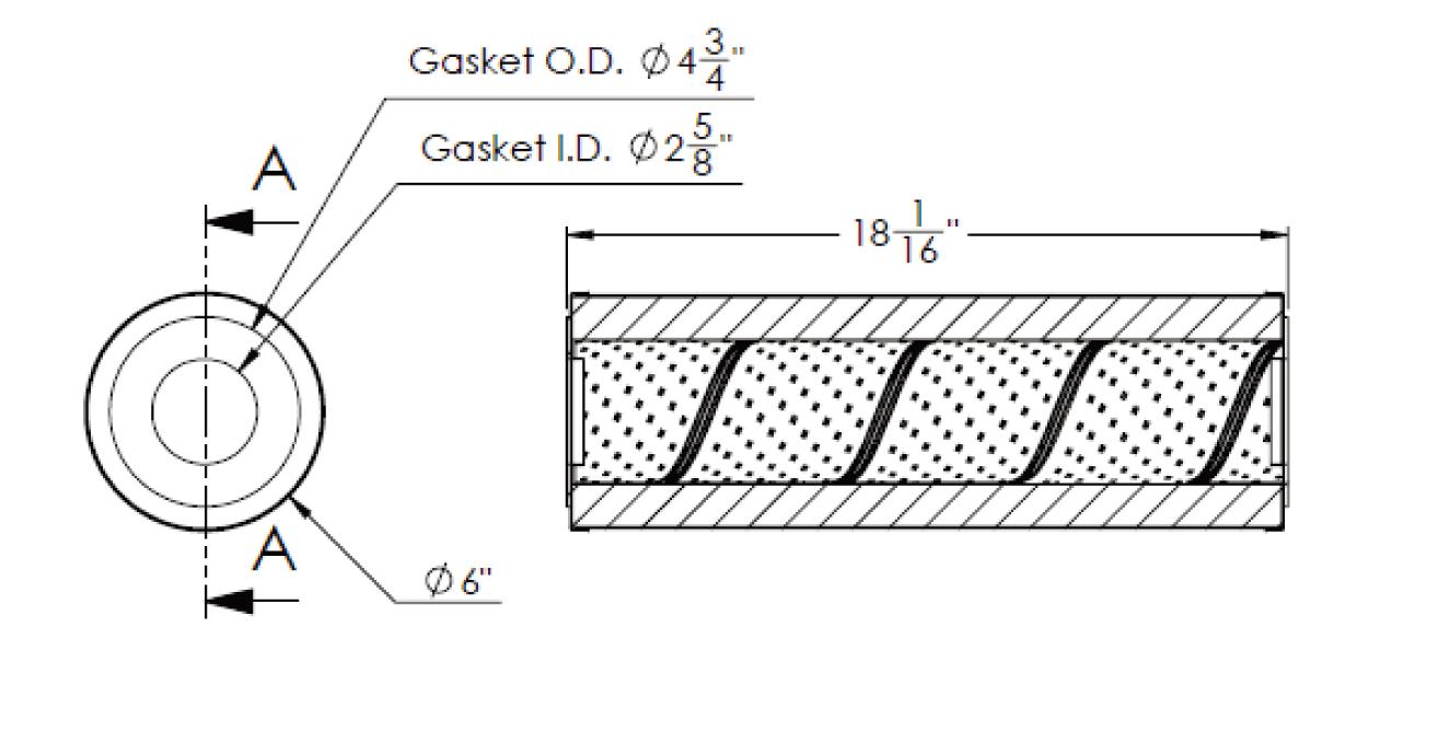 Cim-tek 30065 E02 Centurion Cellulose Filter Element