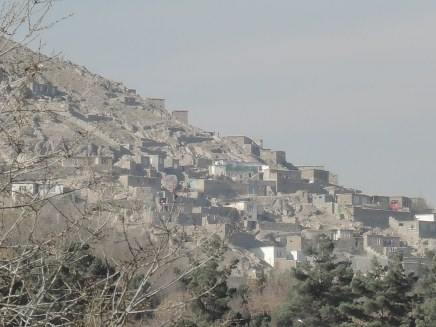 Many dwellings are on steep hillsides