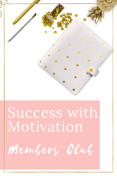 diary with gold stationary success with motivation members club