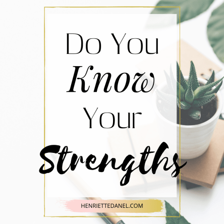 do you know your strengths