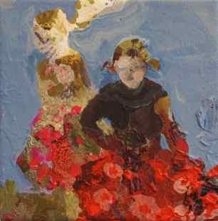 Kjoler i rødt 20×20 cm