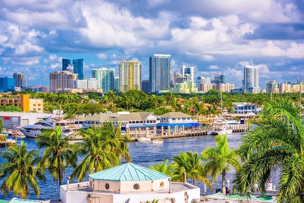 Aerial view of downtown Fort Lauderdale, from the Intracoastal Waterway
