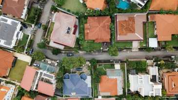 Aerial View Of Houses In South Florida