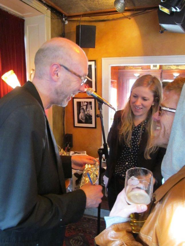 Reception på Cafe Bartof i forbindelse med udgivelse af Den danske lokkedue