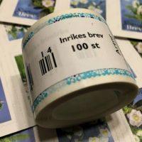 130 frimärken borde räcka...