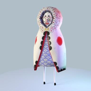 Babushka Mage - Low Poly Game Character