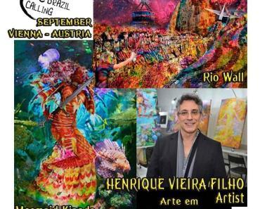 """Nosso Artista Henrique Vieira Filho estará com suas obras """"Rio Wall"""" e """"Mermaid Kianda"""", em Vienna, na Arte em Claves de Sol, curadoria de Angela Oliveira e Nui Art Gallery, agora em setembro."""