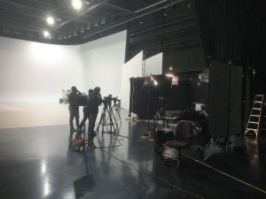 Detroit Production Sound Recordist on Cyclorama Sound Stage in Detroit