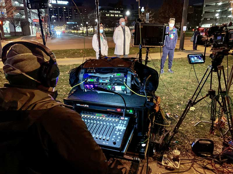 Sound Devices CL-12 Control Surface on Live TV Broadcast
