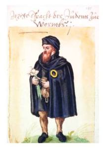 Jewish Man in Worms, Germany, 16th c. Source: Wikimedia Commons.