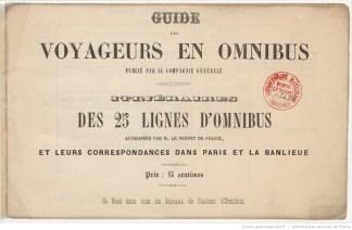 Guide des lignes d'omnibus, CGO, 1855.