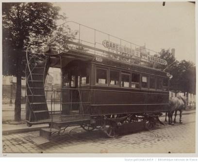 Tramway, Atget, 1910. Source : Gallica/BnF.