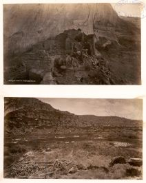 Cave town on the Rio de Chelley, 1875. Ruins in Montezuma Cañon, 1875. Source Gallica/BnF.