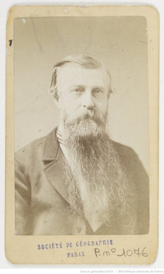 Jules Marcou, photographié par A. Sonrel, 1872.