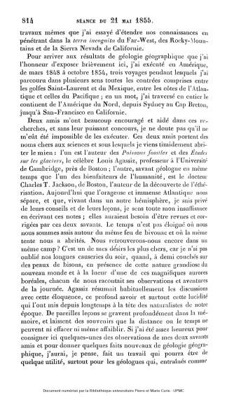 Résumé explicatif d'une carte géologique. Source : Jubilothèque/Bibliothèque universitaire Pierre et Marie Curie.