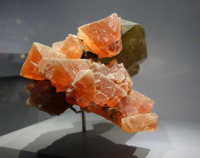 """Fluorite et quartz fumé dite """"Fluorite Laurent"""". Aiguille verte, Haute-Savoie, France. Photographie personnelle."""