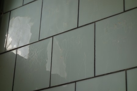 12500 carreaux d'opaline ont servi au revêtement intérieur du phare. Photographie personnelle.