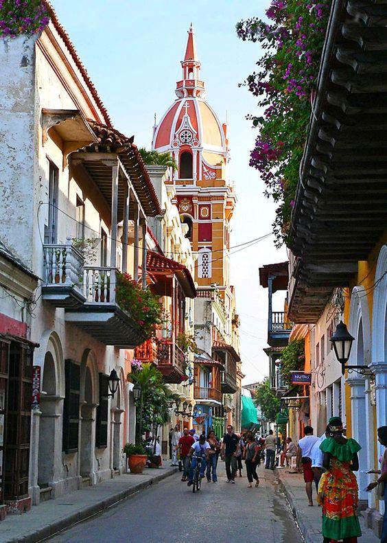 Street in Cartagena de Indias