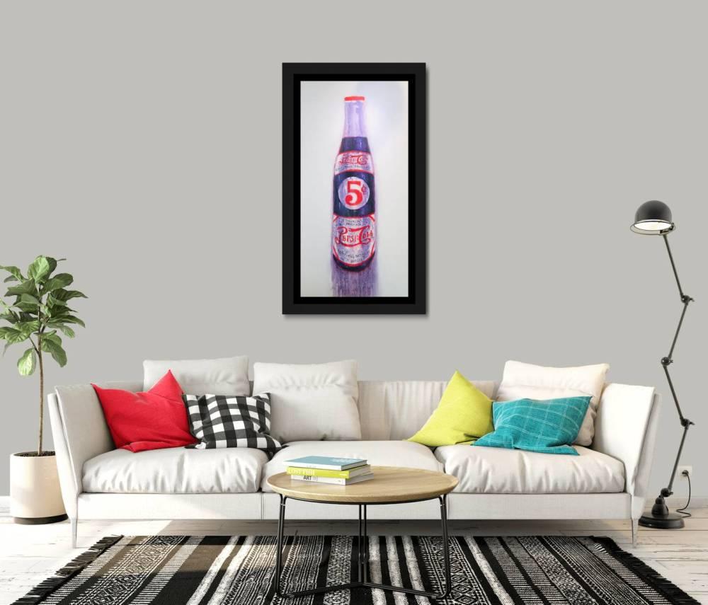 Pepsi Bottle In Room