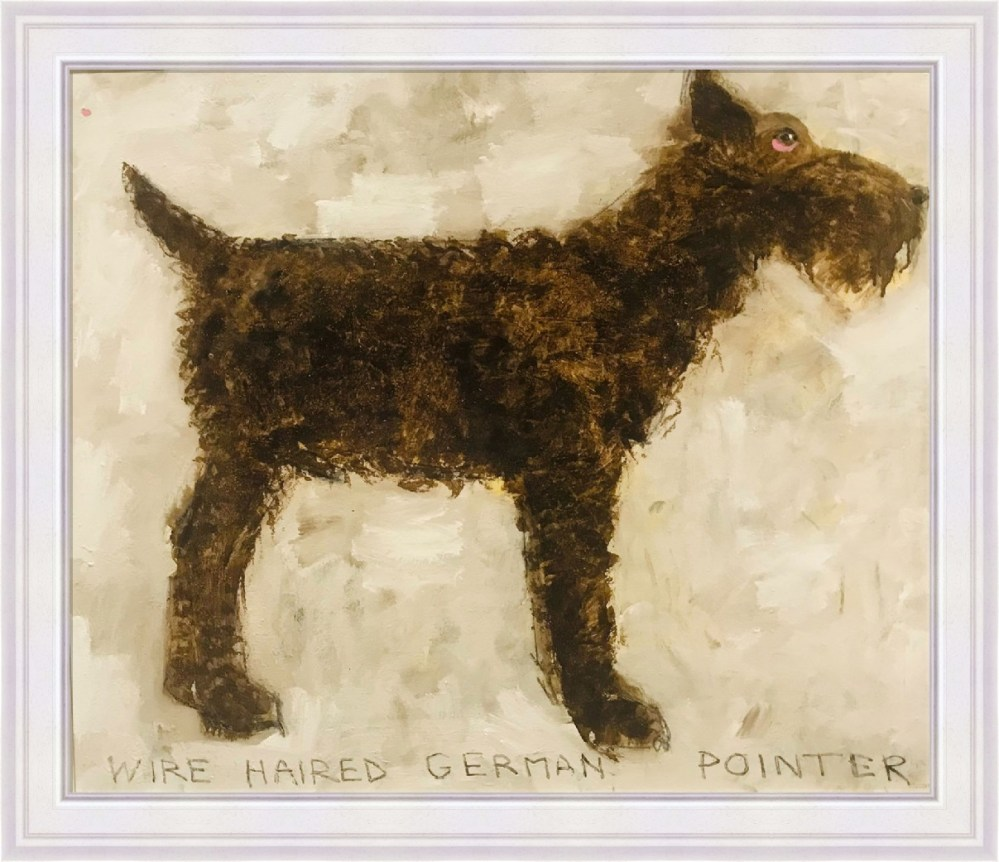 Wire Haired German Pointer Framed