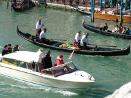 Taxi and gondolas, Venice © Henry Hyde