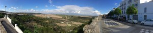 The panorama south from Vejer de la Frontera.