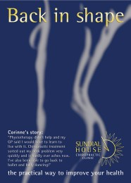 poster campaign for Sundial House Chiropractic Clinic