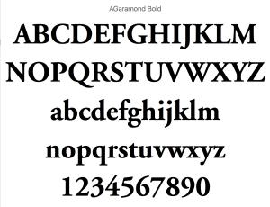 Garamond Bold fonts