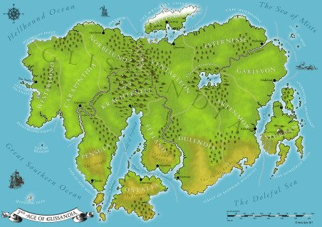 Glissandia, a fantasy map for my goddaughter