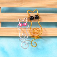 Aluminum Wire Wrapped Cat Shaped Rings DIY