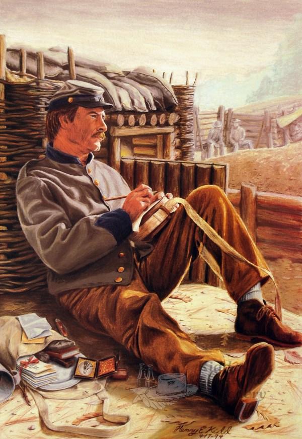 Civil War Confederate Soldiers Art