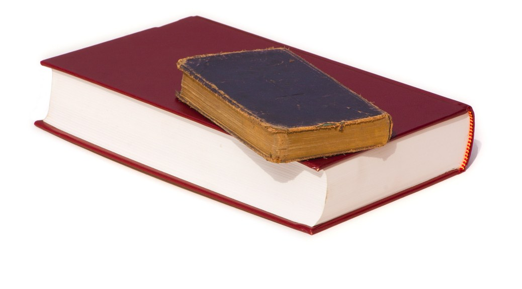 Bibles on top of each other