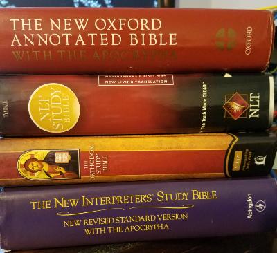 study bible stack