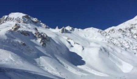 Recent avalanche activity, Val d'Isere, Tignes