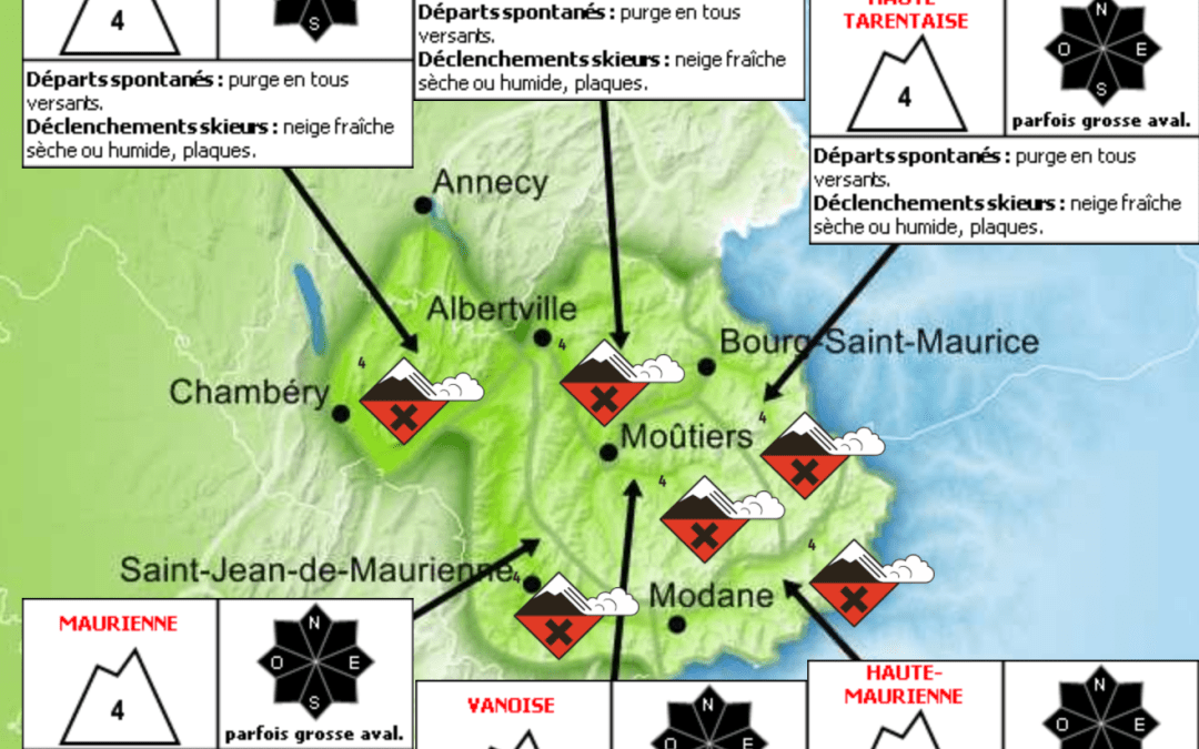 Savoie Avalanche Bulletin for 30th December 2017